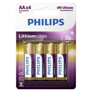 Baterie LITHIUM ULTRA AA 4 buc/blister, PHILIPS - ACOMI.ro
