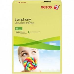 Hartie A4 galben Pastel, 80 g/mp, 500 coli/top, XEROX Symphony - ACOMI.ro