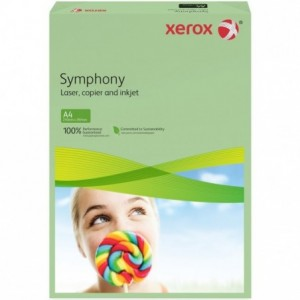Hartie A4 verde Pastel, 80 g/mp, 500 coli/top, XEROX Symphony - ACOMI.ro