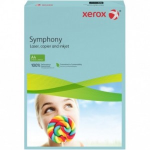 Hartie A4 albastru Mid, 80 g/mp, 500 coli/top, XEROX Symphony - ACOMI.ro