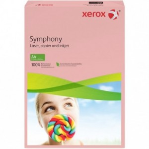 Hartie A3 roz Pastel, 80 g/mp, 500 coli/top, XEROX Symphony - ACOMI.ro