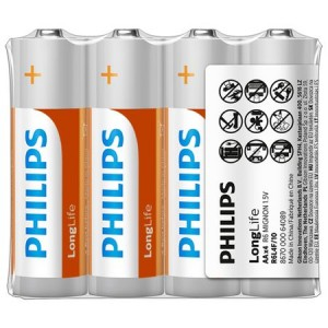 Baterie LONGLIFE AA 4 buc/set, PHILIPS - ACOMI.ro