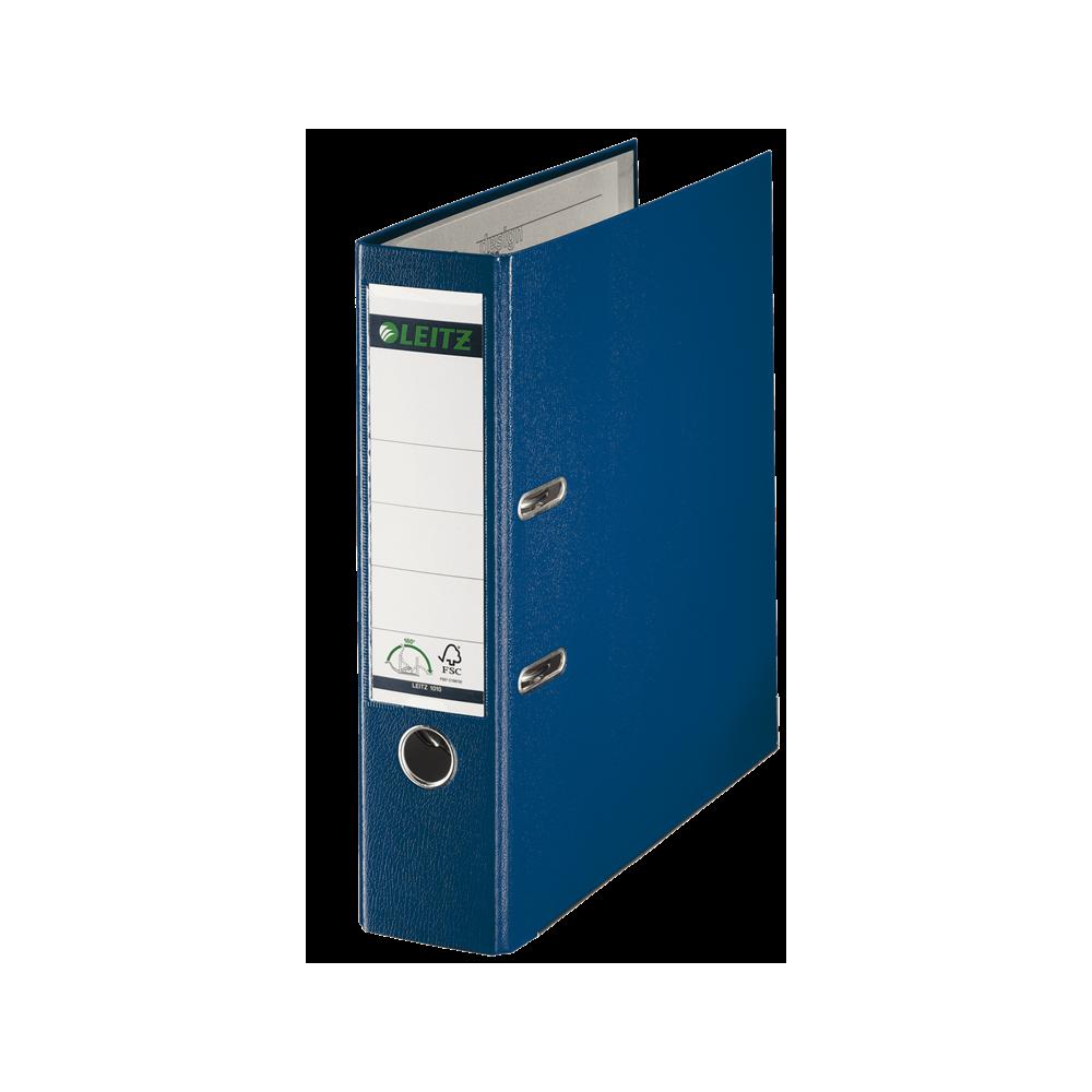Biblioraft plastifiat, 8.0cm, albastru, Leitz 180° - ACOMI.ro