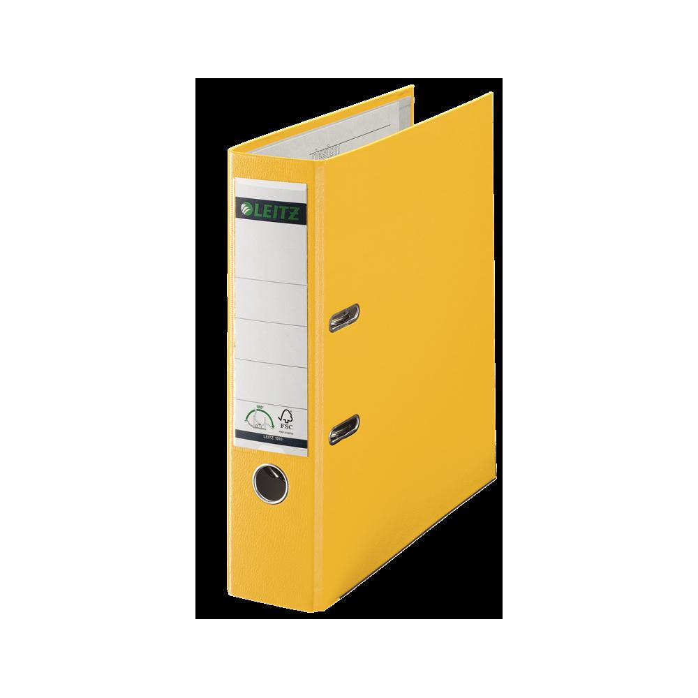 Biblioraft plastifiat, 8.0cm, galben, Leitz 180° - ACOMI.ro