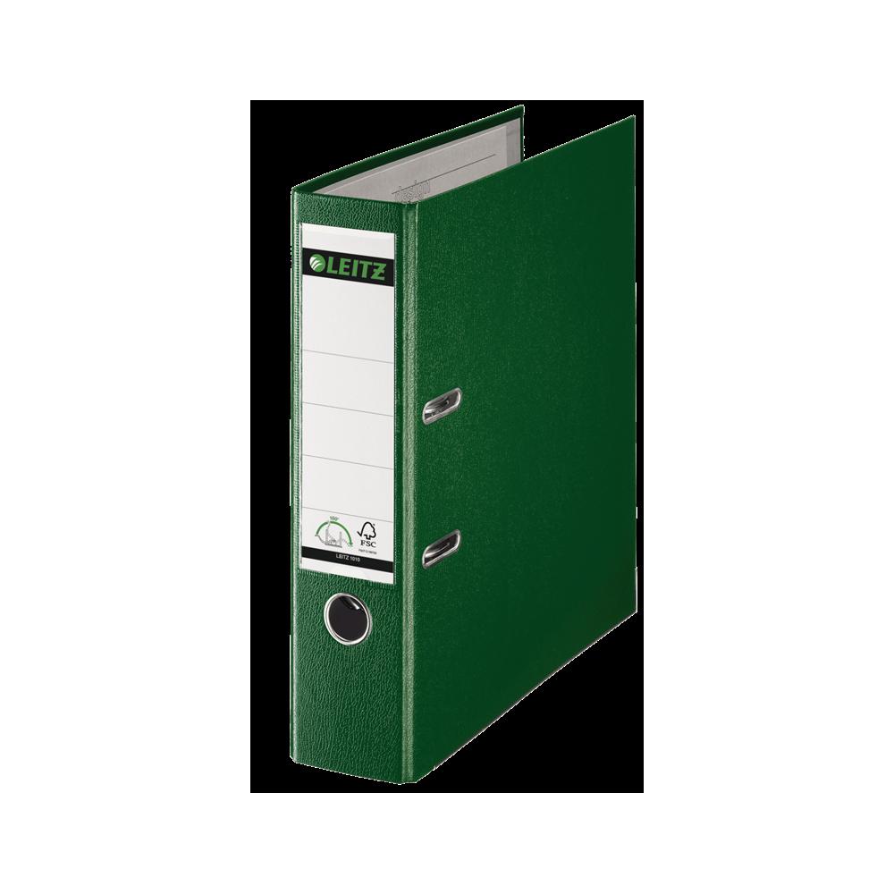 Biblioraft plastifiat, 8.0cm, verde, Leitz 180° - ACOMI.ro