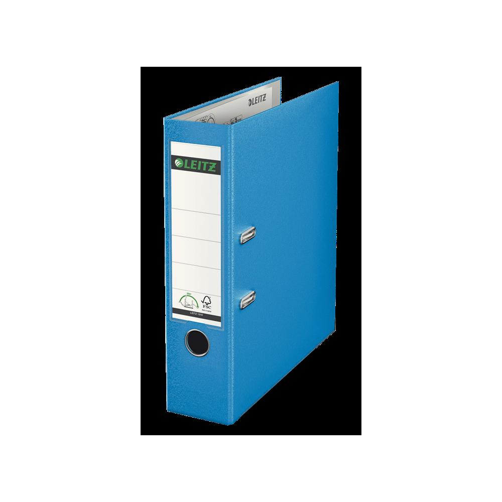 Biblioraft plastifiat, 8.0cm, albastru deschis, Leitz 180° - ACOMI.ro