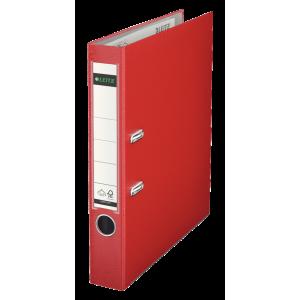 Biblioraft plastifiat, 5.2cm, rosu, Leitz 180° - ACOMI.ro