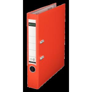 Biblioraft plastifiat, 5.2cm, rosu deschis, Leitz 180° - ACOMI.ro