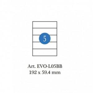 Etichete autoadezive biblioraft 7.5cm, 5/A4, 100 coli/cutie, ACM BRAND - ACOMI.ro