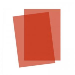 Coperti plastic transparente color A4, 200 microni, rosu, ACM BRAND