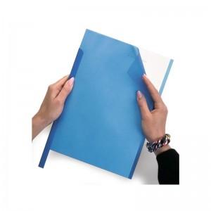 Coperti plastic transparente color A4, 200 microni, albastru, ACM BRAND