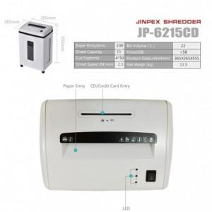 Distrugator documente, cross-cut, max. 15 coli, JINPEX 6215CD - ACOMI.ro