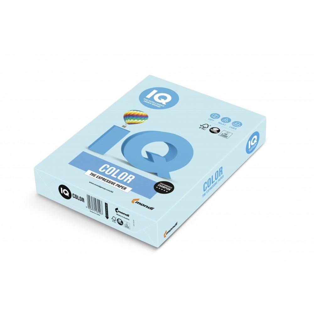 Hartie A4 albastru Pastel, 80 g/mp, 500 coli/top, IQ Color - ACOMI.ro