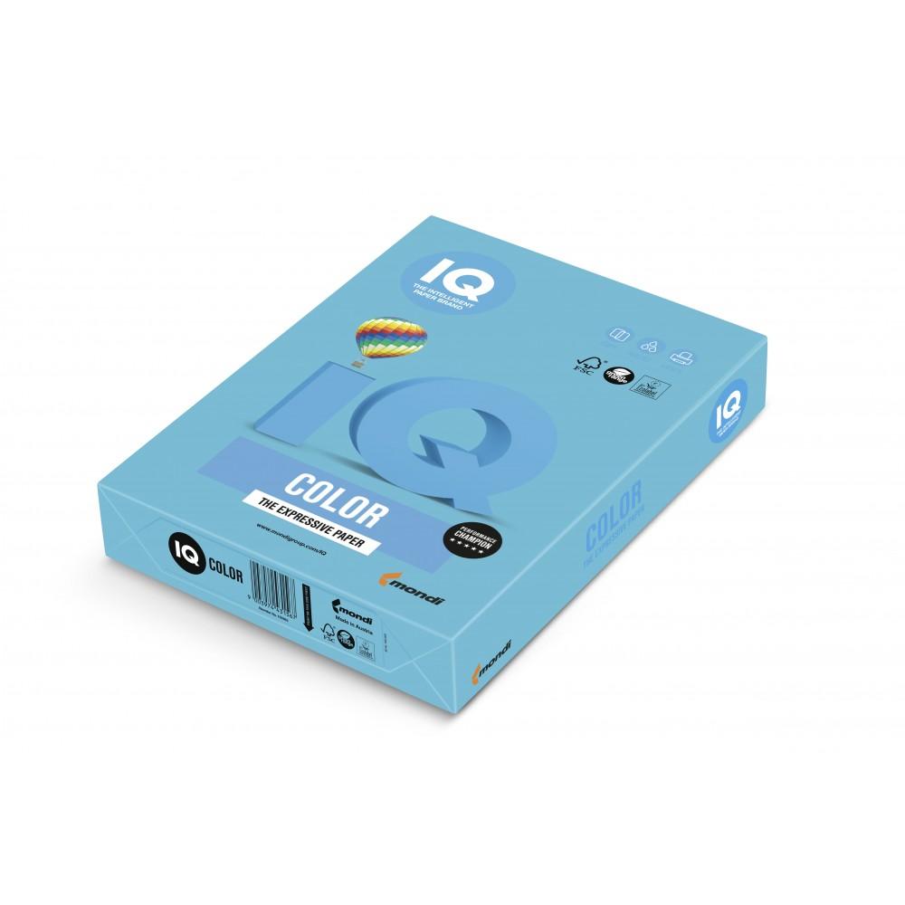 Hartie A3 albastru marin Intense, 80 g/mp, 500 coli/top, IQ Color - ACOMI.ro