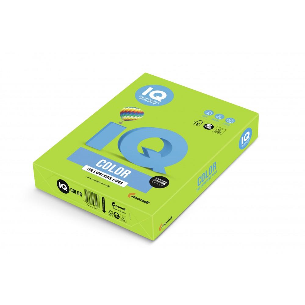 Hartie A3 verde crud Intense, 80 g/mp, 500 coli/top, IQ Color - ACOMI.ro