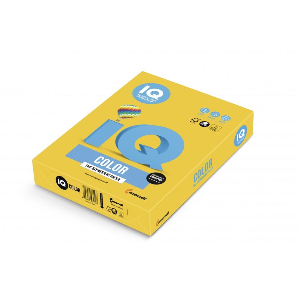 Hartie A4 portocaliu Intense, 80 g/mp, 500 coli/top, IQ Color - ACOMI.ro