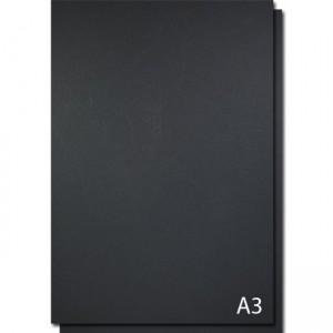 Coperti carton imitatie piele A3, 250g/mp, negru, ACM BRAND