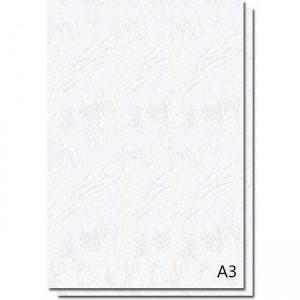Coperti carton imitatie piele A3, 250g/mp, alb, ACM BRAND