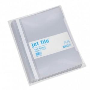 Dosar plastic cu sina si perforatii, JETFILE, 100 buc/set gri · ACOMI.ro