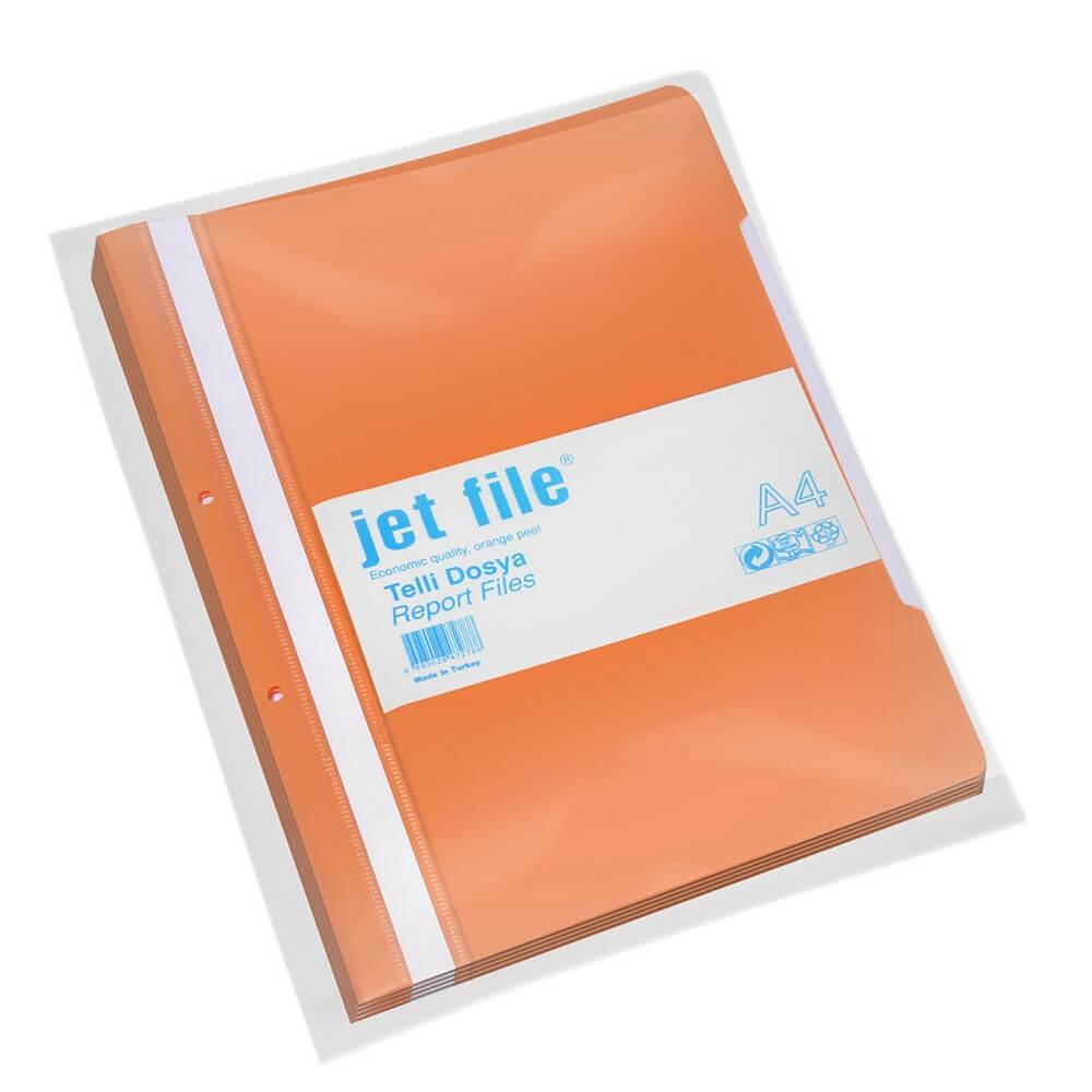 Dosar plastic cu sina si perforatii, JETFILE, 100 buc/set portocaliu · ACOMI.ro