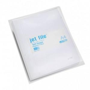 Dosar plastic cu sina si perforatii, JETFILE, 100 buc/set alb · ACOMI.ro