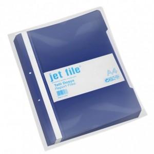 Dosar plastic cu sina si perforatii, JETFILE, 100 buc/set bleumarin · ACOMI.ro