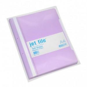 Dosar plastic cu sina si perforatii, JETFILE, 100 buc/set lila · ACOMI.ro