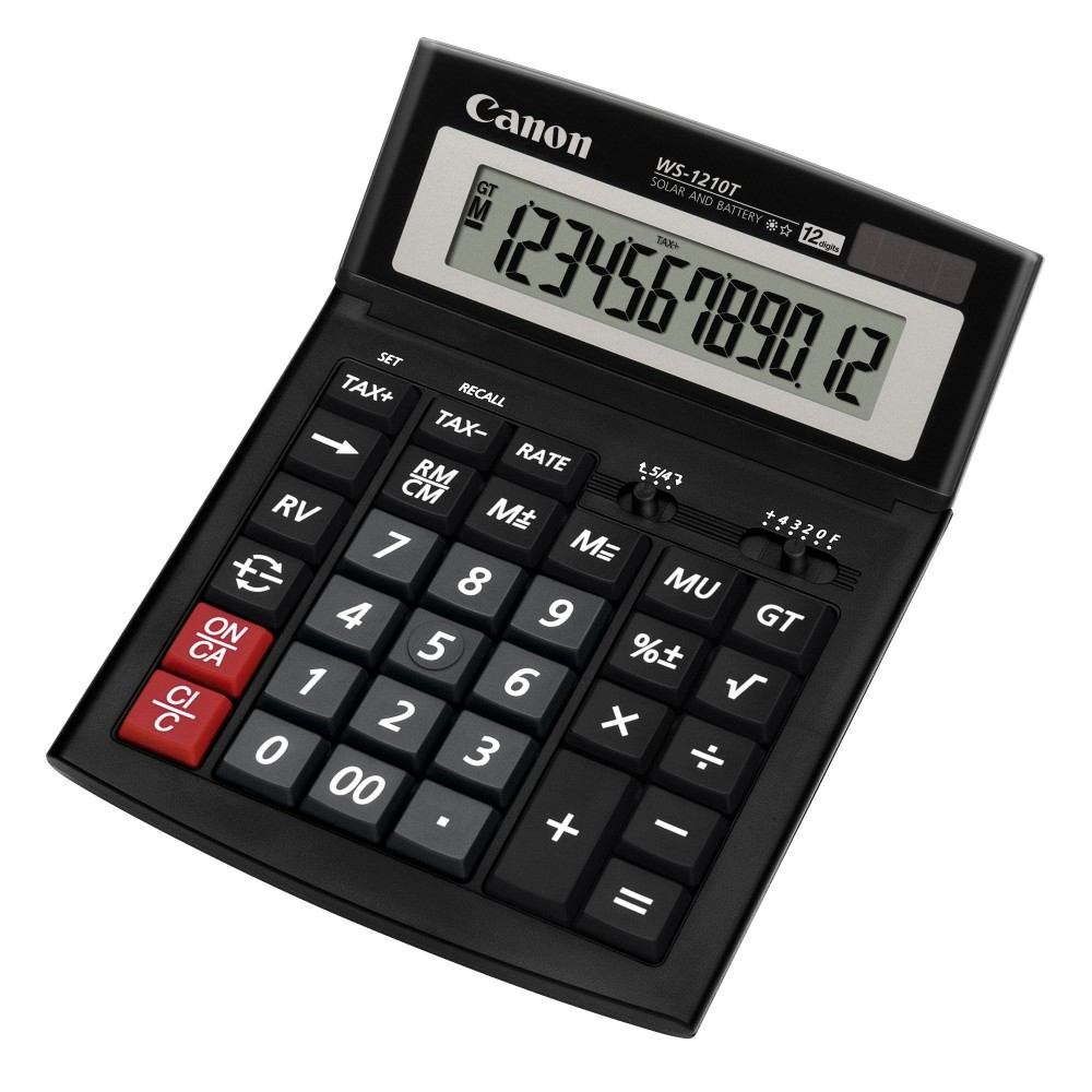 Calculator de birou, 12 digits, CANON WS-1210T - ACOMI.ro