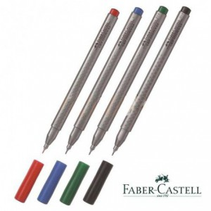 Liner FABER CASTELL Grip, 0.4mm, maro inchis