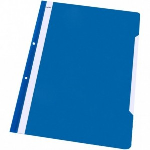 Dosar plastic cu sina si perforatii, albastru, NOKI - ACOMI.ro