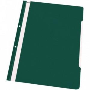 Dosar plastic cu sina si perforatii, verde, NOKI - ACOMI.ro