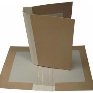 Coperti de arhivare A4, mucava kraft/alb - ACOMI.ro