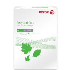 Hartie reciclata A4, 80 g/mp, 500 coli/top, XEROX Recycled Pure - ACOMI.ro