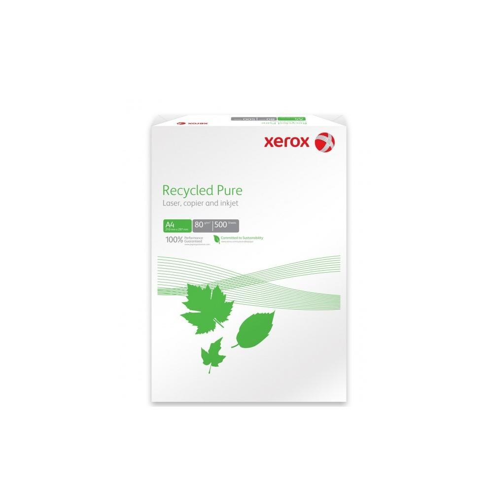 Hartie reciclata A4, 80 g/mp, 500 coli/top, XEROX Recycled Pure - ACOMI.ro