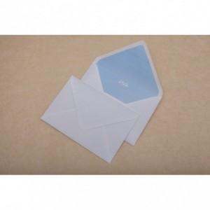 Plic pentru felicitari 130x190mm gumat, clapa V, alb, GPV - ACOMI.ro