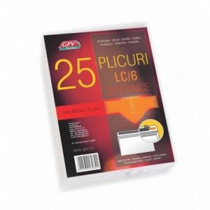 Plic C6 (114x162mm) siliconic, alb, 25 buc/set, GPV - ACOMI.ro