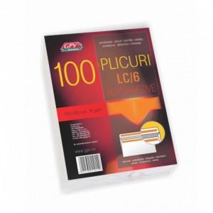 Plic C6 (114x162mm) autoadeziv, alb, 100 buc/set, GPV - ACOMI.ro
