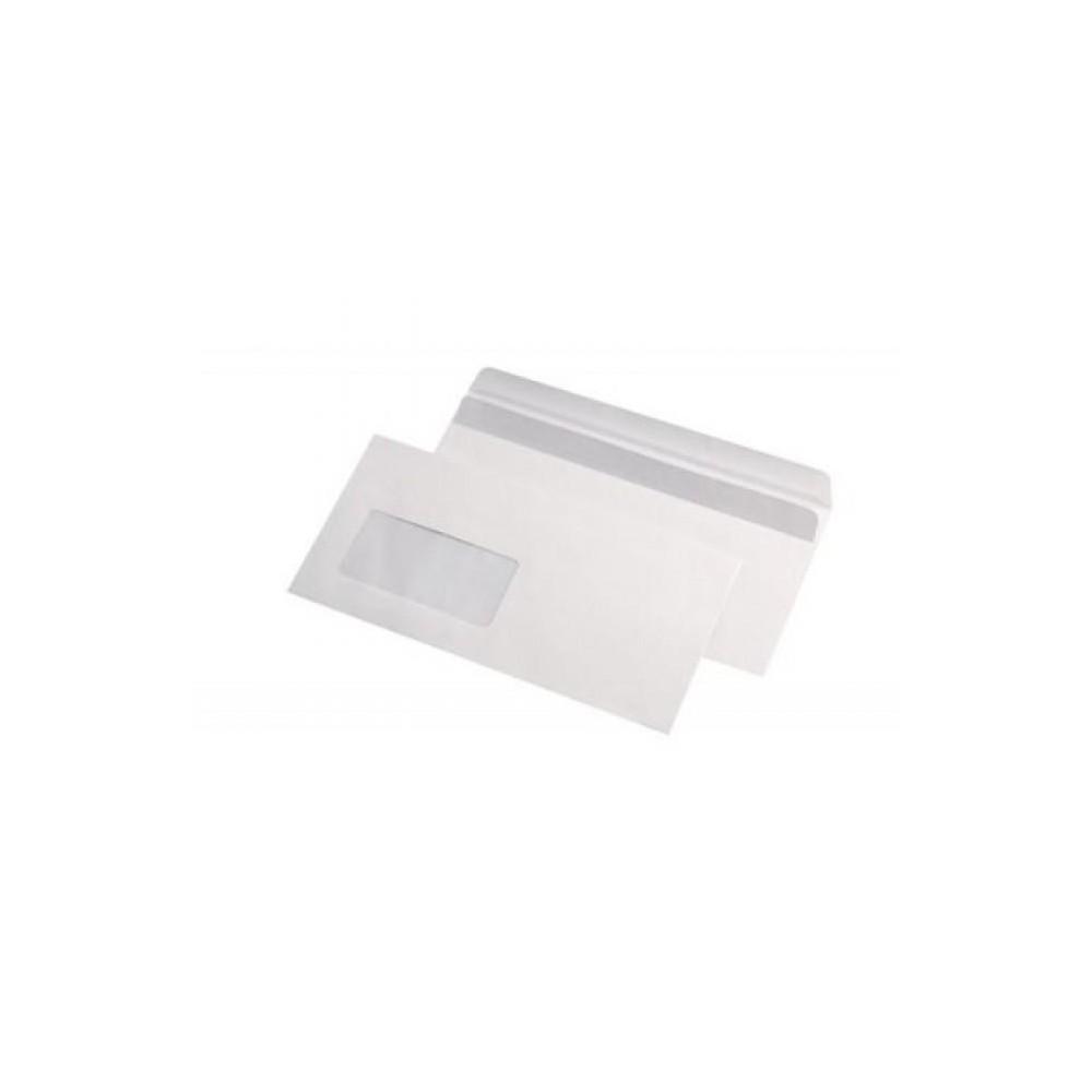 Plic DL (110x220mm) siliconic, fereastra stanga, alb, 25 buc/set, GPV - ACOMI.ro