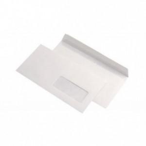 Plic DL (110x220mm) siliconic, fereastra dreapta, alb, 25 buc/set, GPV - ACOMI.ro