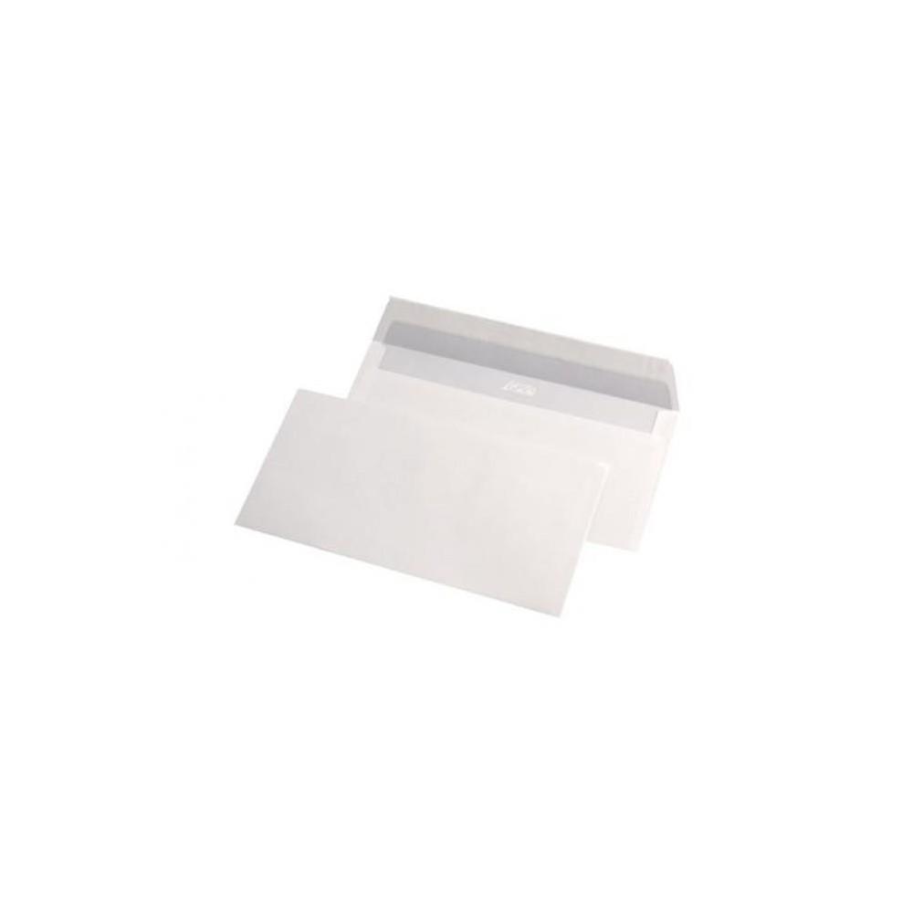 Plic DL (110x220mm) siliconic, alb, 200 buc/set, GPV - ACOMI.ro