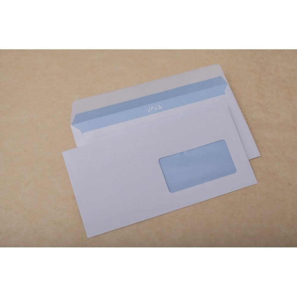 Plic DL (110x220mm) siliconic, fereastra dreapta, alb, 1000 buc/cutie, GPV - ACOMI.ro