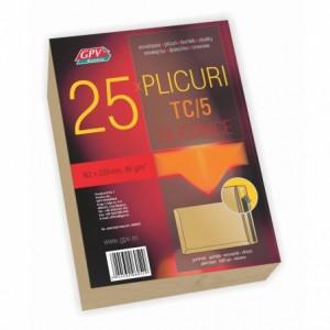 Plic C5 (162x229mm) siliconic, kraft, tip T, 25 buc/set, GPV - ACOMI.ro