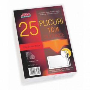 Plic C4 (229x324mm) siliconic, alb, tip T, 25 buc/set, GPV - ACOMI.ro