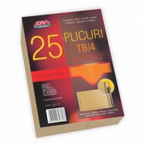 Plic B4 (250x353mm) siliconic, kraft, tip T, 25 buc/set, GPV - ACOMI.ro