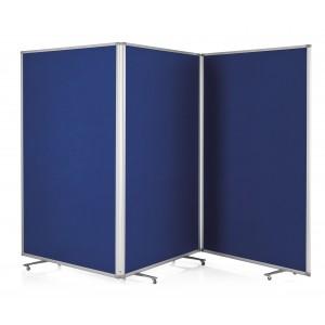 Set 3 panouri de prezentare, pliabil, mobil, 1810x1200x370mm, MAGNETOPLAN - ACOMI.ro