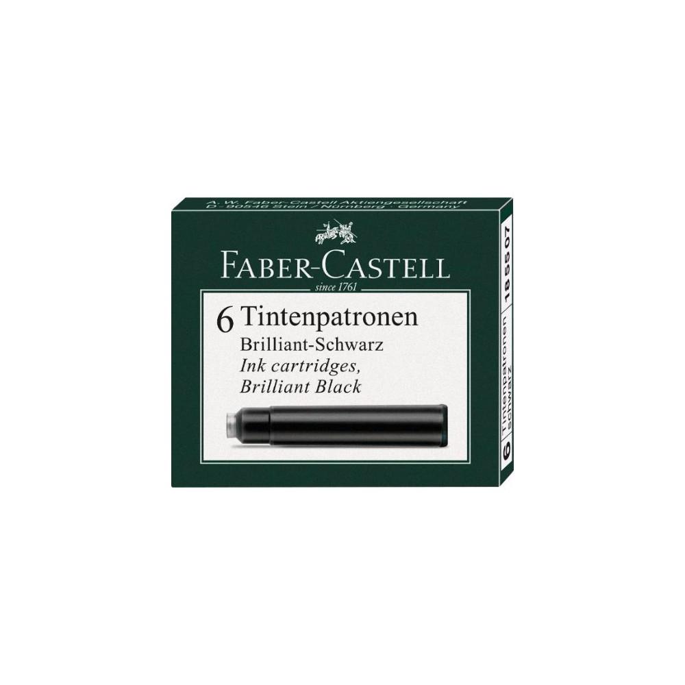 Cartuse cerneala mici Faber Castell - negru