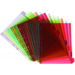 Separatoare plastic 12 culori/set, etichete personalizabile, ELBA MAXI - ACOMI.ro