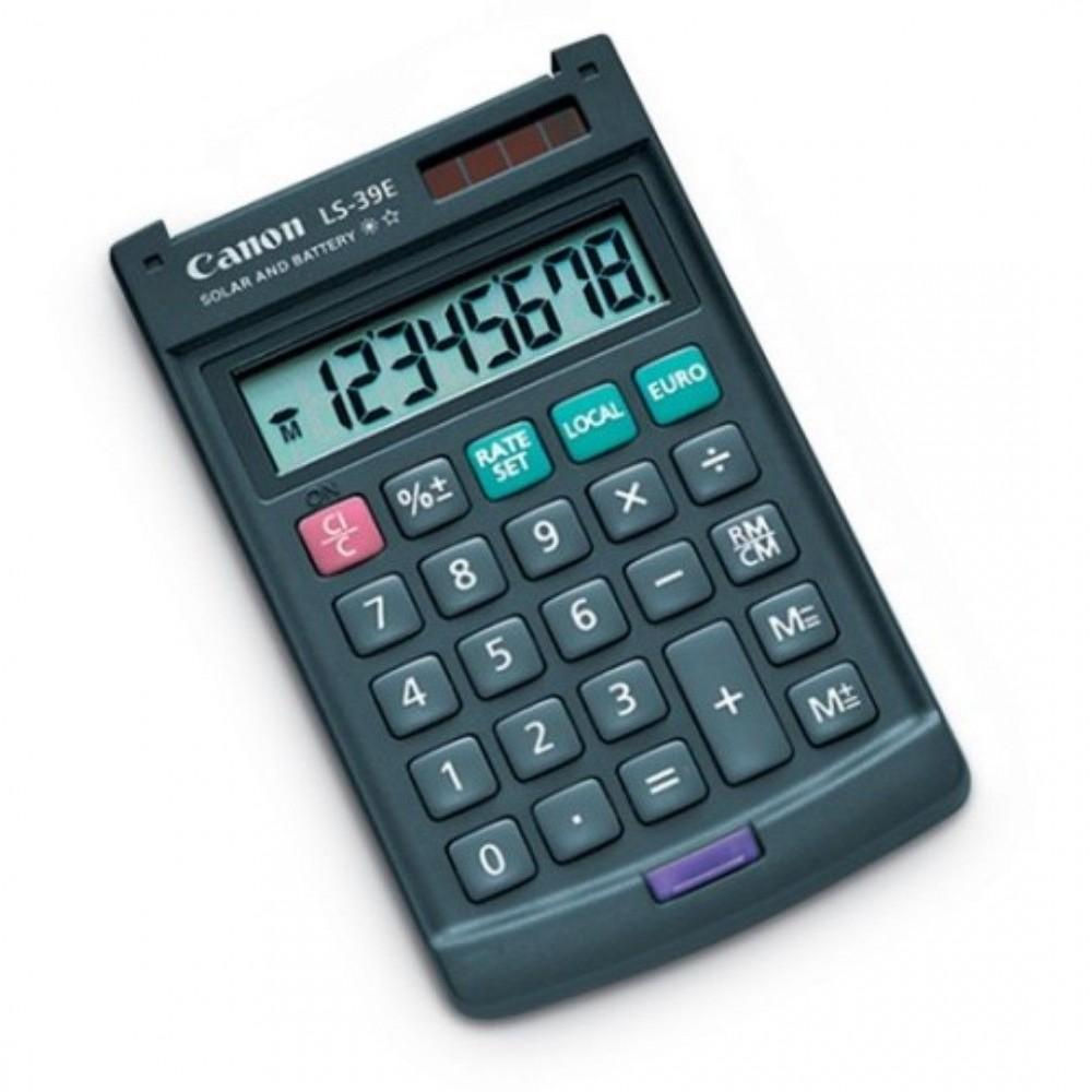 Calculator de buzunar, 12 digits, CANON LS39EBL - ACOMI.ro