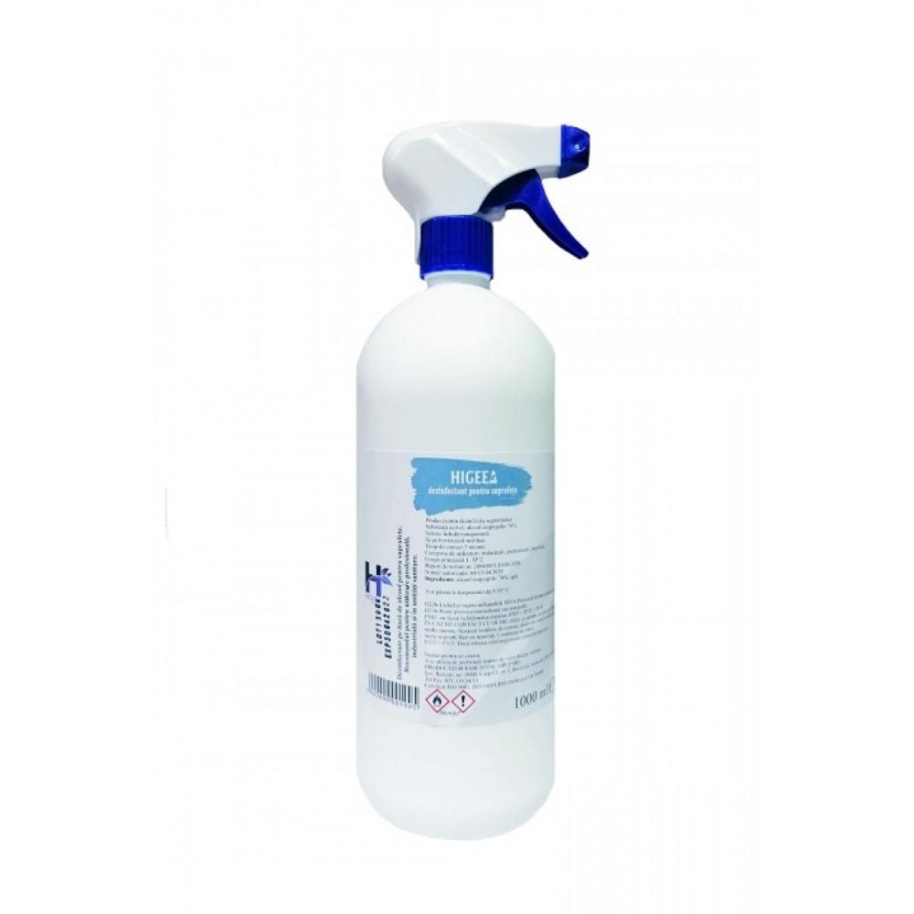 Dezinfectant pentru suprafete cu actiune biocida, 1L, Higeea - ACOMI.ro
