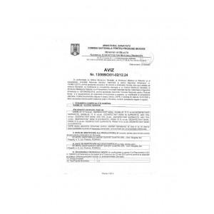 AVIZ MINISTER Dezinfectant biocid pentru maini 70% alcool, 500 ml, Saniblue - ACOMI.ro